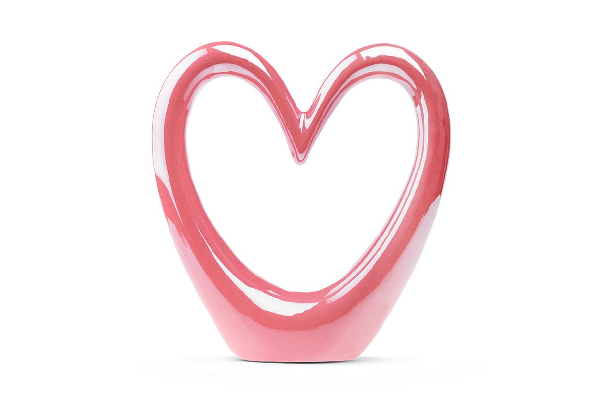 Figurka Serce CORDAM perłowy róż