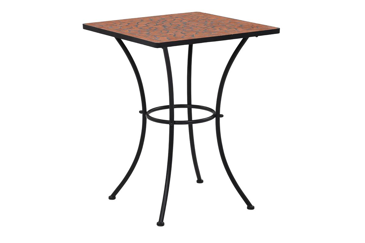 Stół ogrodowy MOSAIS pomarańczowy/szary/czarny
