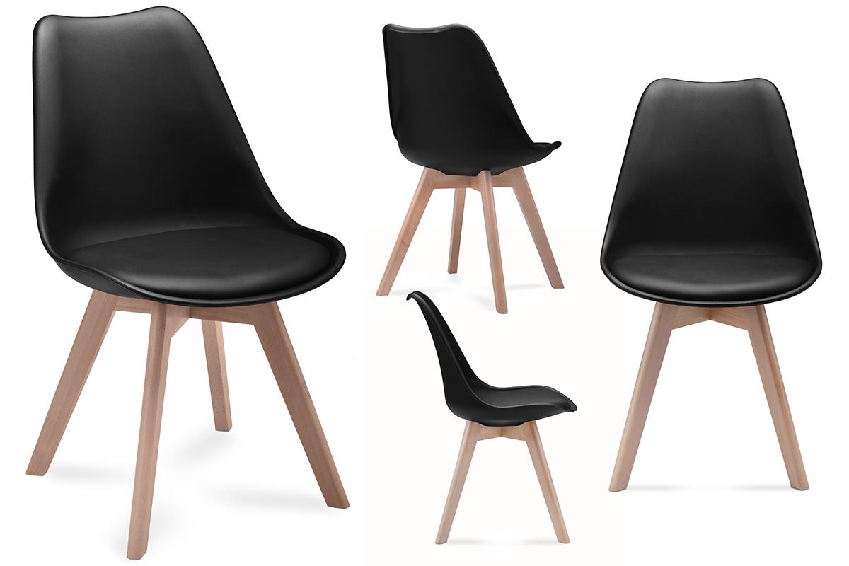Zestaw krzesła 4 szt. BESO czarny
